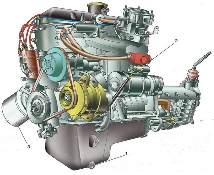 Схема двигателя ваз 06